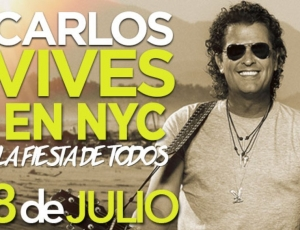 Carlos Vives en el Madison Square Garden de New York julio 8 del 2016.